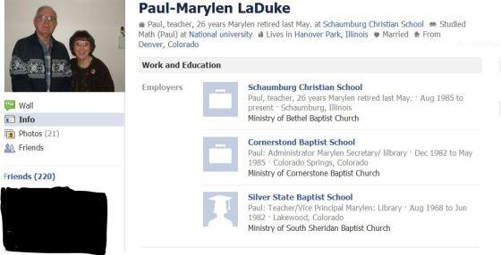 LaDuke's Facebook